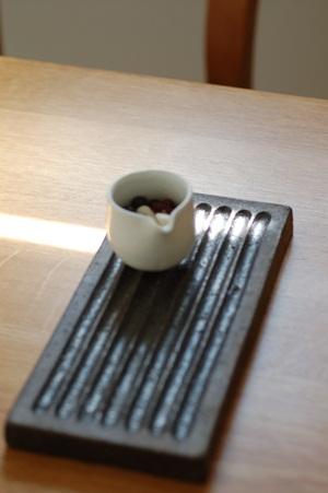 リバーシブル角盛り皿小、幅広小